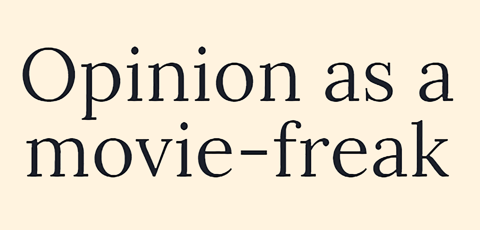 Hold Me the movie film review from Opinion as a movie-freak by Peter Pluymers